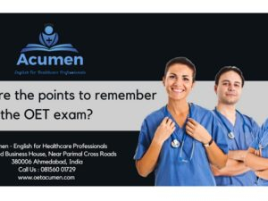 What are the points to remember to pass the OET exam?