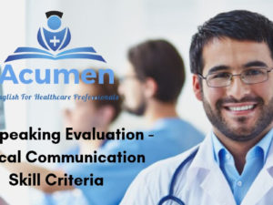 OET Speaking Evaluation – Clinical Communication Skill Criteria