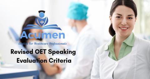 Revised OET Speaking Evaluation Criteria