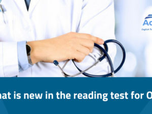 What is new in the reading test for OET?